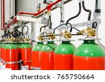hazard fire suppression system... | Shutterstock . vector #765750664