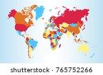 color world map vector   Shutterstock .eps vector #765752266