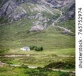 traditional scottish crofters... | Shutterstock . vector #765752974