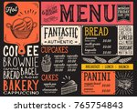 bakery dessert menu for... | Shutterstock .eps vector #765754843
