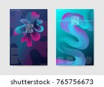 abstract trendy futuristic... | Shutterstock .eps vector #765756673