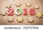 christmas gingerbread cookies...   Shutterstock . vector #765757966