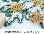 christmas background with gift  ...   Shutterstock . vector #765758479