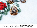 christmas and new year... | Shutterstock . vector #765758500