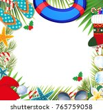 merry christmas and happy new... | Shutterstock .eps vector #765759058