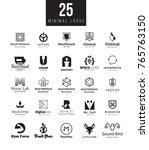 minimal logo design templates... | Shutterstock . vector #765763150
