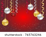merry christmas and new year... | Shutterstock .eps vector #765763246