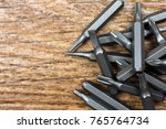 set of heads for screwdriver ... | Shutterstock . vector #765764734