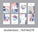 set of creative universal... | Shutterstock . vector #765766270
