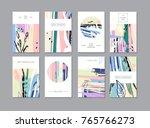 set of creative universal... | Shutterstock . vector #765766273