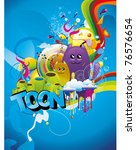 abstract cartoon character... | Shutterstock .eps vector #76576654