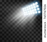 stadium projector lights to... | Shutterstock .eps vector #765767026