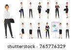 vector set of business woman... | Shutterstock .eps vector #765776329