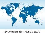 blue world map vector   Shutterstock .eps vector #765781678