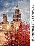 Town Hall In Autumn At The...