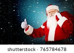 santa  attention  authentic. | Shutterstock . vector #765784678