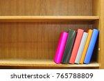 books on the shelf   Shutterstock . vector #765788809