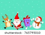 funny christmas characters...   Shutterstock .eps vector #765795010