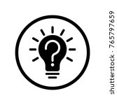 Vector Of Light Bulb Icon With...