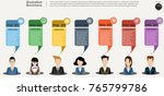 businessman and  lady  ... | Shutterstock .eps vector #765799786