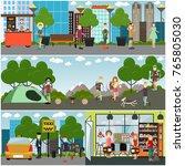 vector tourist poster  banner... | Shutterstock .eps vector #765805030