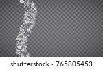 winter frame with white... | Shutterstock .eps vector #765805453
