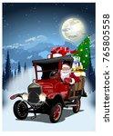 vector christmas card.... | Shutterstock .eps vector #765805558