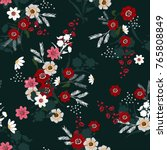 beautiful vector christmas... | Shutterstock .eps vector #765808849
