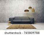 modern living room  with sofa...   Shutterstock . vector #765809788