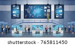 government surveillance agency... | Shutterstock .eps vector #765811450
