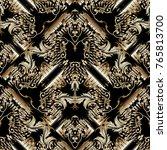 baroque seamless pattern.... | Shutterstock .eps vector #765813700