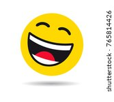 big smiling emoticon symbol.... | Shutterstock .eps vector #765814426