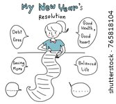 new year's resolution concept... | Shutterstock .eps vector #765818104