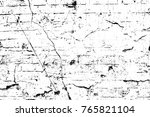 grunge black and white pattern. ... | Shutterstock . vector #765821104