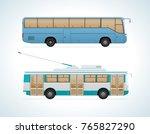 passenger public modern urban... | Shutterstock .eps vector #765827290
