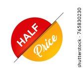 half price off sale graphic...   Shutterstock .eps vector #765830230