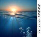 aquatic design template ... | Shutterstock . vector #765838843