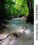 deep forest waterfall in... | Shutterstock . vector #765839800