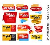 big set of sale sign banner... | Shutterstock .eps vector #765847729