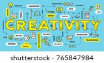 creative idea concept. vector... | Shutterstock .eps vector #765847984