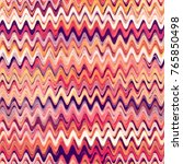 wavy seamless pattern with hand ... | Shutterstock .eps vector #765850498