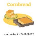Stock vector cornbread vector illustration 765850723