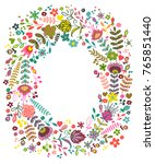 vector design with hand drawn... | Shutterstock .eps vector #765851440