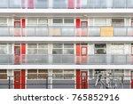 facade of social housing block... | Shutterstock . vector #765852916