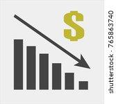 vector image diagram of decline ... | Shutterstock .eps vector #765863740