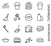 thin line icon set   bio ... | Shutterstock .eps vector #765864043