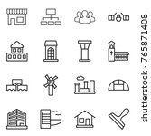 thin line icon set   shop ... | Shutterstock .eps vector #765871408