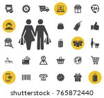 shopping activities icon on...