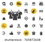 t shirt with hanger vector icon ...