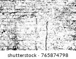grunge black and white pattern. ... | Shutterstock . vector #765874798